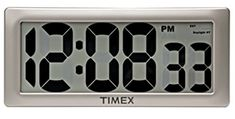 Timex Large Digital Clock with Digits and Intelli-Time Technology Retro Alarm Clock, Atomic Wall Clock, Large Digital Clock, Digital Wall, Digital Alarm Clock, Open Concept Office, Talking Alarm Clock, Best Wall Clocks