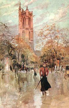 DE GEORGES STEIN......1910....LA TOUR SAINT JACQUES.......PARTAGE DE LE PEINTRE JEAN BERAUD.....SUR FACEBOOK.........