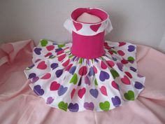 Dog Dress  Small White with hot pink   with by afrodytka1224, $25.00