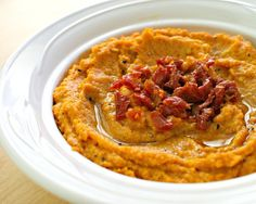 Pin for Later: Celebrate Halloween With These Crave-Worthy Orange Appetizers Sun-Dried Tomato Hummus Sun-dried tomato hummus is bursting with color and flavor and perfectly complements crisp vegetables and chips.