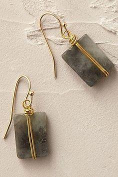 Draht Schmuck - Drahtschmuck Anthropologie EU Wrapped Quartz Earrings More – . Wire Wrapped Jewelry, Wire Jewelry, Jewelry Crafts, Beaded Jewelry, Jewelry Box, Jewelry Accessories, Jewelry Design, Jewelry Making, Jewelery