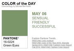 ...y el color de hoy es Ojos Verdes, un color sensual, amistoso, exitoso. Más info en http://www.pyma.com/tutoriales-y-trucos/y-los-colores-pantone-de-esta-semana-sonsemana-del-2-al-8-de-mayo/