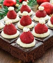 Christmas Tea More More from my site Strawberry Santas – How to Make a Santa Strawberry with Video Tutorial Christmas Tree Brownies With Candy Cane Trunks Mickey Mouse Santa Hat Cupcakes Santa Hat Cookie Cups Santa Hat Cupcakes Santa Hat Jell-O Shots Christmas Tea Party, Christmas Deserts, Holiday Desserts, Holiday Baking, Holiday Recipes, Christmas Recipes, Christmas Chocolate, Holiday Treats, Santa Christmas