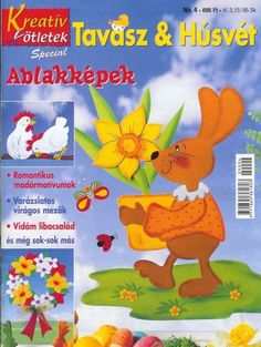 Albumarchívum Easter Activities For Kids, Crafts For Kids, Pattern Quotes, Magazine Crafts, Magazines For Kids, Painted Books, Book Folding, Tole Painting, Craft Patterns