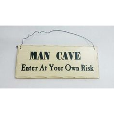 Wooden Sign Decor 10x4 inch Mancave Enter At Your Own Risk #Unbranded #Contemporary
