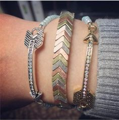 LOVING how our Share the Love bracelets look with my go-to Calico bracelet!!! #mixedmetals #premierjewelry #sharethelove