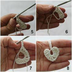 Direct link to free tutorial: Tiny crochet  hearts