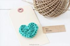 DIY: crochet heart gift tags by love_y
