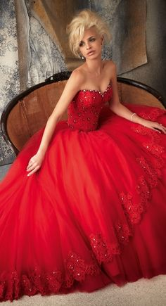 Mori Lee Tulle Ball Gown