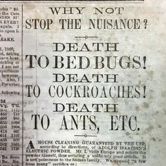 """This advertisement for Adolph Isaacson's Electric Powder appears in an 1861 issue of """"The Charleston Mercury."""" The ad was taken out by a local druggist who included testimonials guaranteeing the safety and usefulness of the powder as a pest control agent. As a modern Antiquarian, we understand the necessity of ants and other insects as part of the ecosphere that is planet earth, but we must admit we have a biased distain against bed bugs and roaches (and deer ticks)!"""