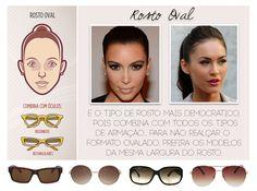5e223bbac038a Consultoria de Imagem  óculos para rosto oval Formato De Rosto, Tipos De  Rosto,