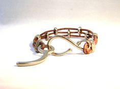 Cypres Closing Pin leather Wrap Bracelet by Aerieanna on Etsy, $26.20