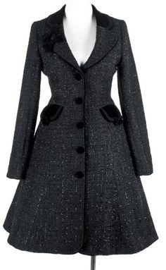 Manteau British Institute Style noir brillant Pyon Pyon LY-020 > JAPAN ATTITUDE - VETVES069   Shop : www.japanattitude.fr