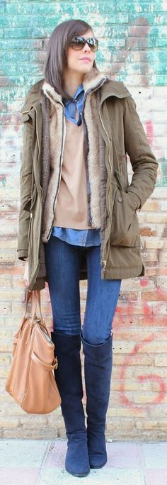 Green Military Parka by Be Trench