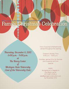 Granger Christmas Party Invite Option / Work