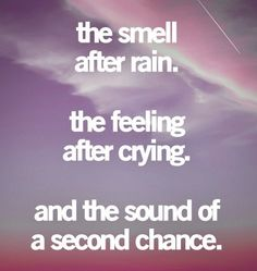 the sound of a second chance