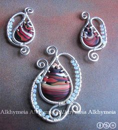 wire work with Polymer clay