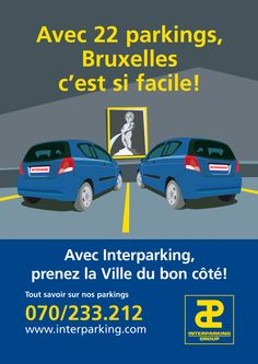 Illustration pour campagne pub d'interparking