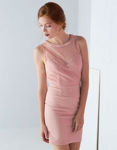 Pretty pink (and cheaaaaap) dress! (Jurk Bershka met details in tule)