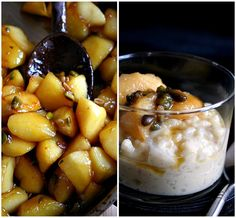 Caramelized Apples with Creamy Honey Vanilla Rice Pudding   by Le ...