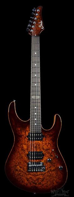 Suhr Custom Modern Burl Top Bengal Burst - Black Limba Back - Cocobolo Neck - Wild West Guitars
