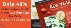 Only 48% of Marketers Build A New Landing Page For Each Marketing Campaign Get Your Business' #Marketing Campaign Ahead of this Crowd With Source Soft Solutions!  #digitalmarketing #marketingcampaign #sourcesoftsolutionspvtltd