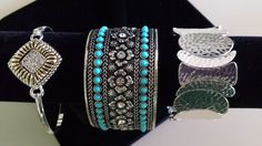 We are now offering a new line of jewelry, including these three bracelets -- all very affordable.