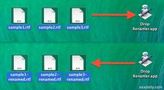 Batch rename multiple files with a simple DIY drag and drop utility in Mac OS X
