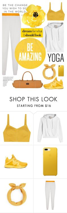 """yoga style"" by licethfashion ❤ liked on Polyvore featuring Isa Arfen, Vetements, Athletic Propulsion Labs, Alo Yoga and Elle Macpherson Body"