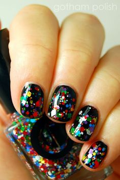 Glitter nail polish- galaxy like oOOooOhhh:)