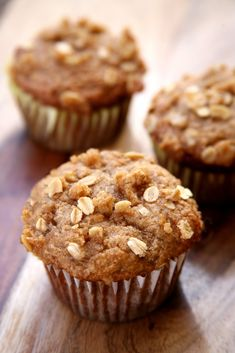 These banana muffins are going to be your new favorite breakfast. You'll never guess that they are made with less sugar and oil than traditional recipes.