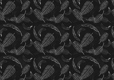 Banana leaf pattern vector