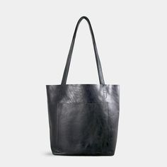 S1T1 Handmade Black Basic Leather Tote - Shop Influxx