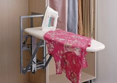 Folding ironing board from The Closet Builder.