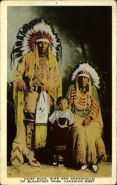 Chief Duck, Wife and Grandchild n.d.