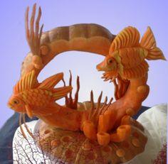 fruit carving - fish