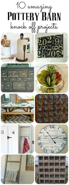 WOW!  These 10 Pottery Barn knock off projects are absolutely amazing!  I want to make all of them for myself!