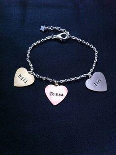 Infernal Devices Charm Bracelet - Will, Tessa & Jem