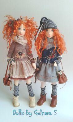 Ручная работа Текстильно -каркасная кукла