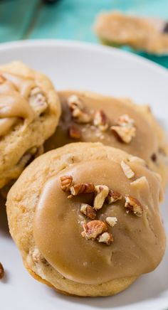 Caramel Frosted Brown Sugar Cookies