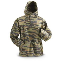 Alpha® Military Surplus Tiger Stripe Camo Anorak