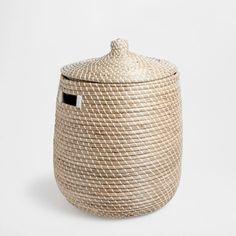 BASKET WITH TWO-COLOR LID - Baskets & Hampers - Bathroom | Zara Home United States