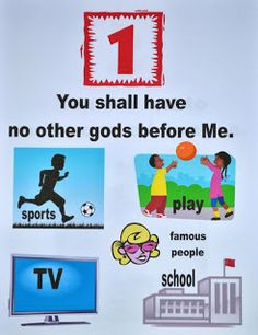 We are discussing the 10 commandments today. I have created a set of teacher's visuals and a student workbook that can be used with the. Sunday School Kids, Sunday School Activities, Bible Activities, Sunday School Lessons, Sabbath Activities, Bible Games, Children's Bible, Children Activities, Bible Stories For Kids