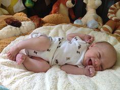 Kaden laughing at 3 days old...