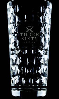 Three Sixty Vodka, Diamant Longdrinkglas, geriffelte Edition, Ritzenhoff