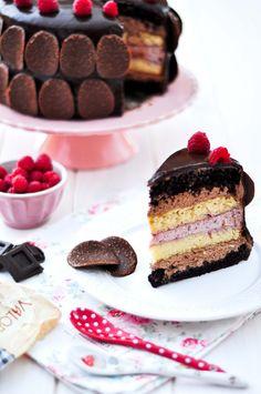 OBSESIÓN CUPCAKE: Tarta de Chocolate y Frambuesa para Chocolates Valor