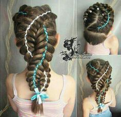 Pinterest  deliriumrequiem          Hair Style   Pinterest   Hair     Pretty braids with ribbons