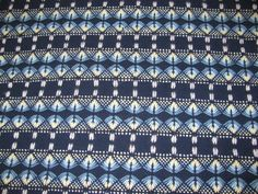 Navy Swedish Weaving Blanket with Yarn by rdrunnercreations