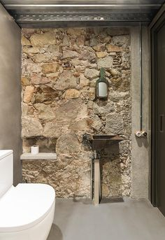 Take your bathroom design into the realm of industrial home design with these inspirational bathroom designs and industrial bathroom accessories. Stone Wall, House Design, Industrial Bathroom Accessories, Bathroom Styling, Brick And Stone, Industrial Style Bathroom, Industrial Bathroom, Rustic Bathroom, Bathroom Design