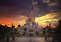 A Disneyland Paris Sunset (Explored at #2 on 9/19/11)